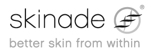Skinade text and logo