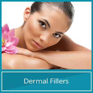 Dermal Fillers woman with perfect skin and flower