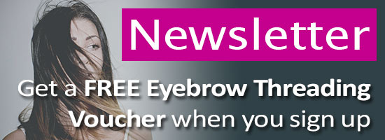 Free eyebrow voucher when signing up for newsletter